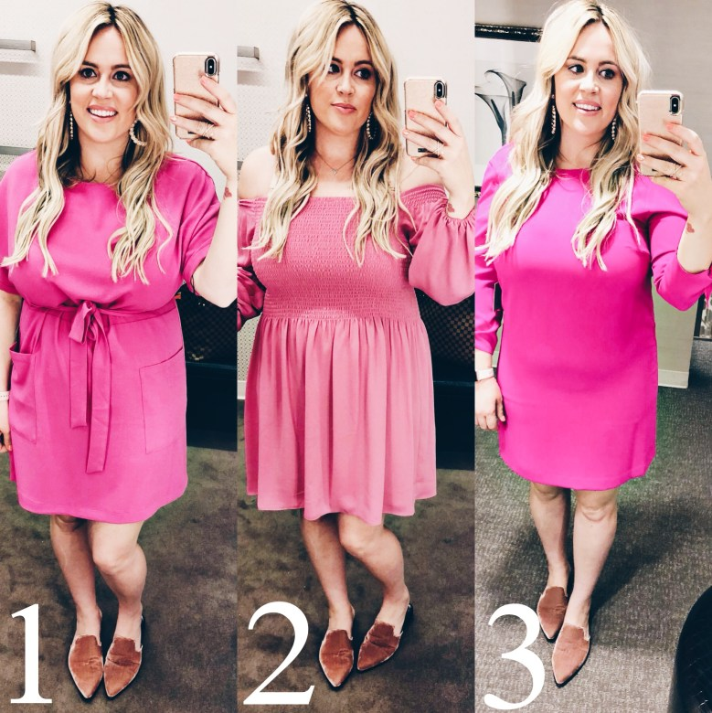 The Perfect Pink Dress for Valentines Day, valentines, valentine, valentines ootd, galantines, pink dress, pretty pink dress, mules, pink mules, velvet mules, shopbop, nordstrom