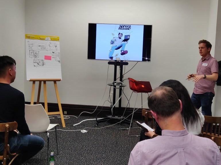 Illustrator Roger Mason gives a talk about service design