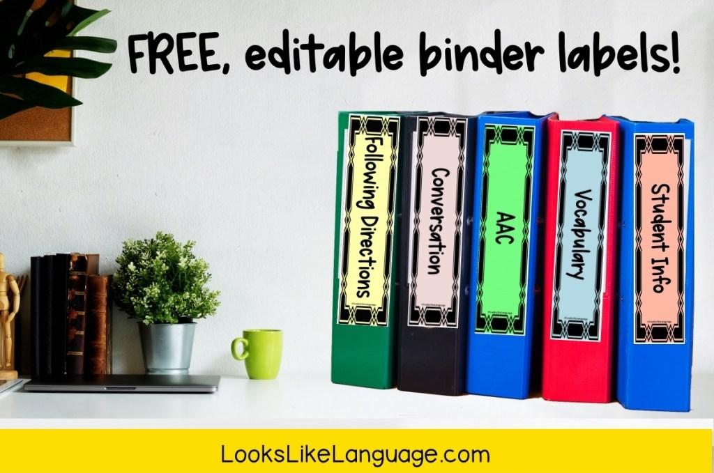 free resource, organization tips, school, SLP