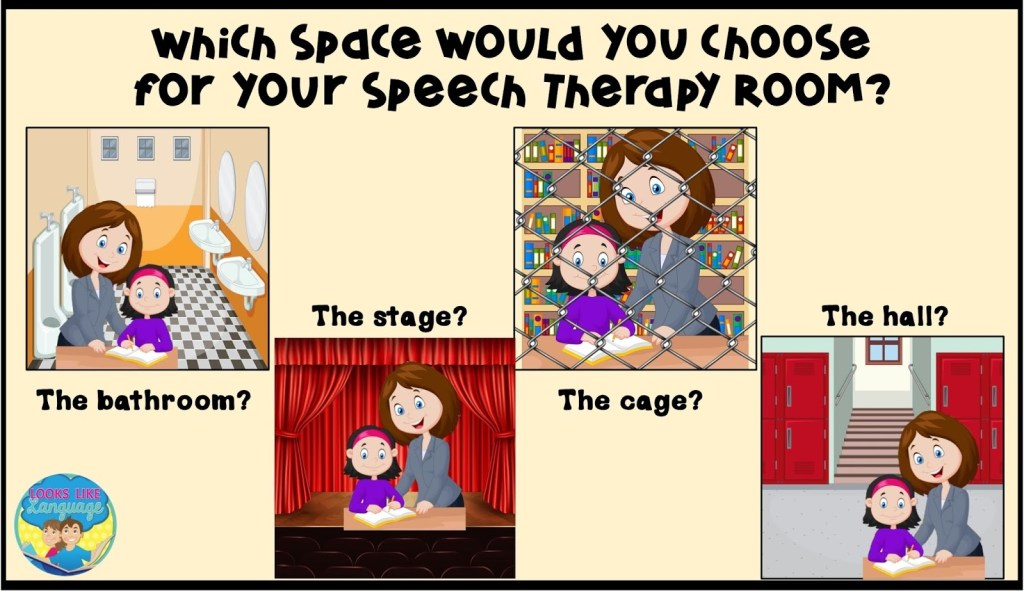 The worst real estate in the school! Which would you choose for your speech therapy space?
