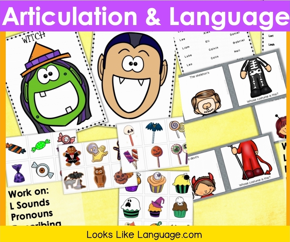 various materials in the L Sound Articulaton and Language set by LLL