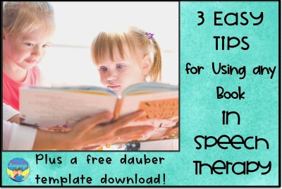 Get a free download and lots of tips for using books in speech therapy!