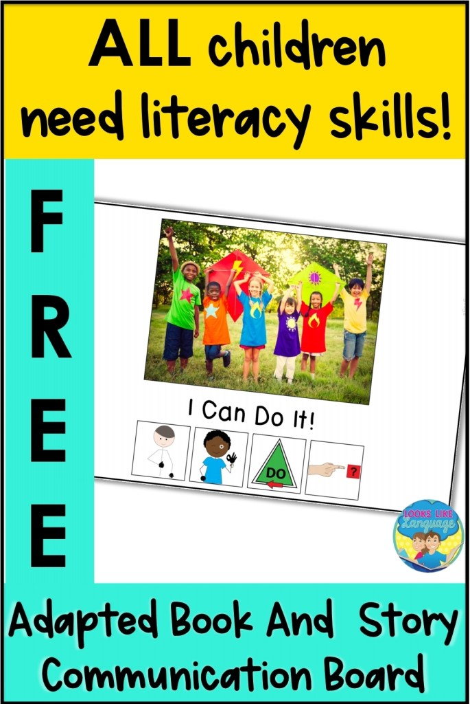 free download, adapted literacy, speech therapy