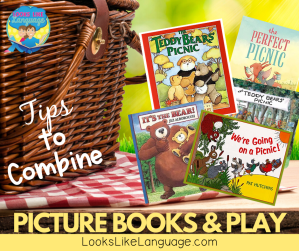 picture books, adapted books, play, speech therapy