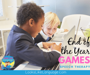 fun games to end the year in speech therapy