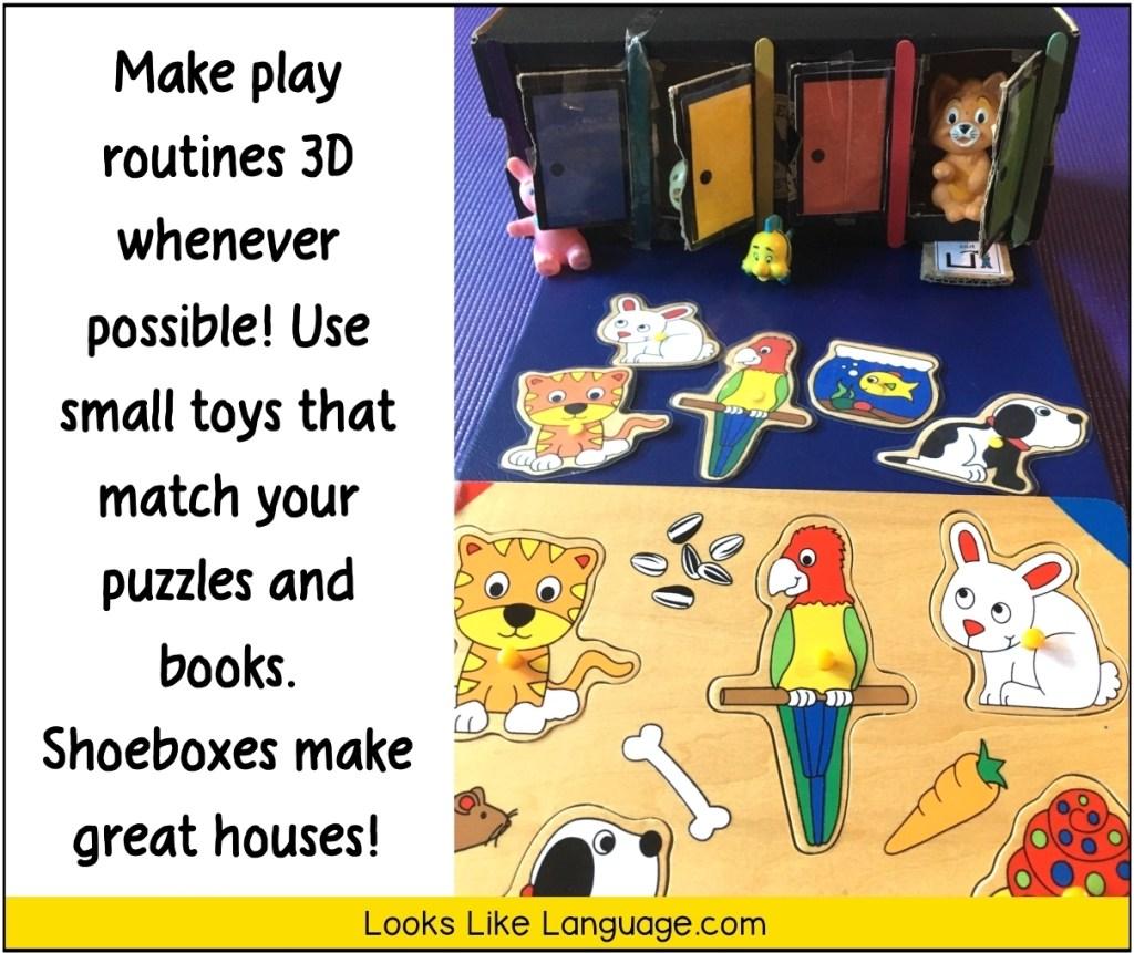 shoebox play, speech therapy