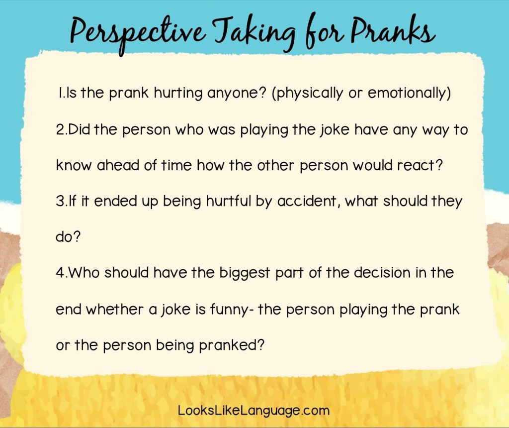 4 questions to ask about playing pranks
