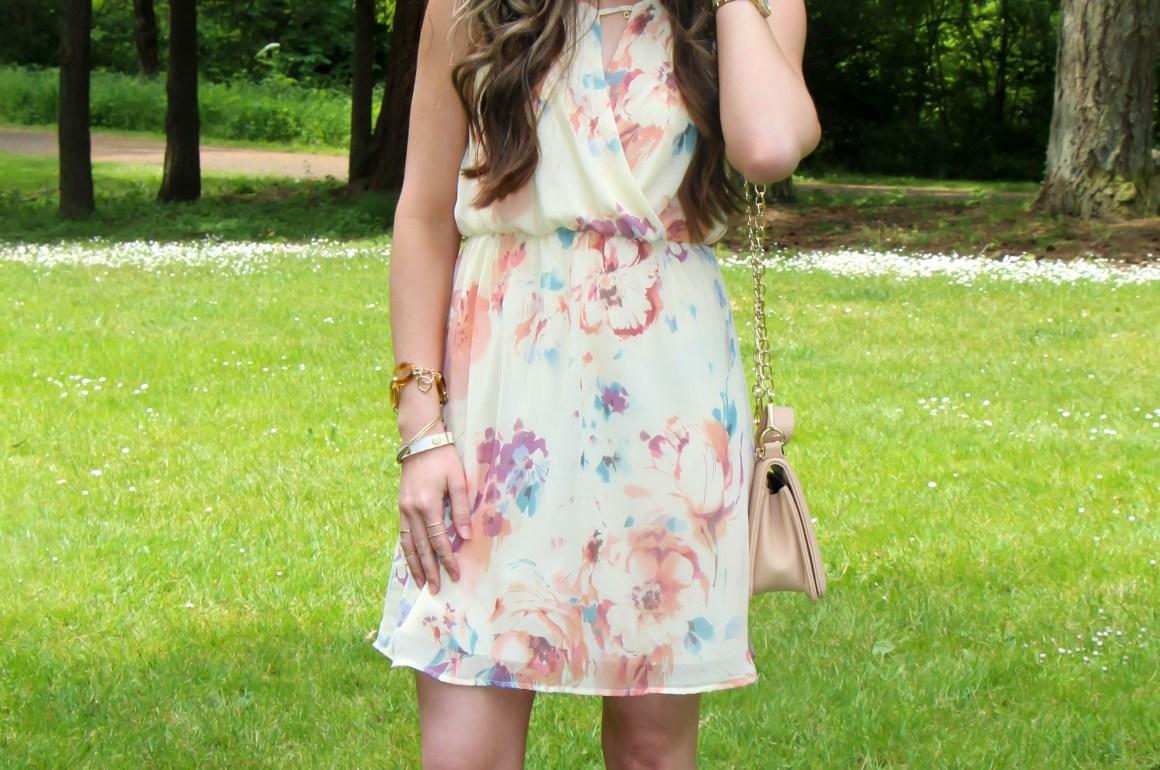 FLORAL SURPLICE DRESS by Sweetest Stitch