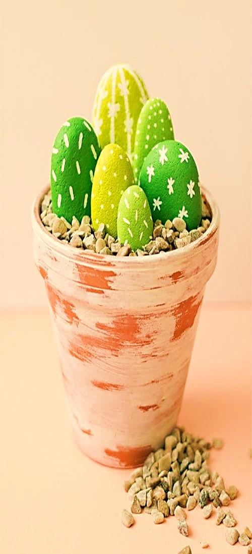 jardin piedra mini cactus gratis bisuteria paso a paso