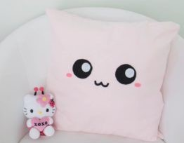 kawaii cojin rosado pillow cushion cover
