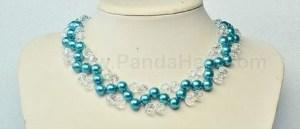 jewelry bisuteria collares perlas cristales azul blue necklaces beads crystals