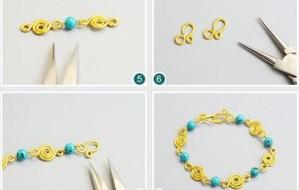 handmade jewelry bisuteria DIY pulseras bracelets como hacer tutoriales tutorials how to make alambre wire