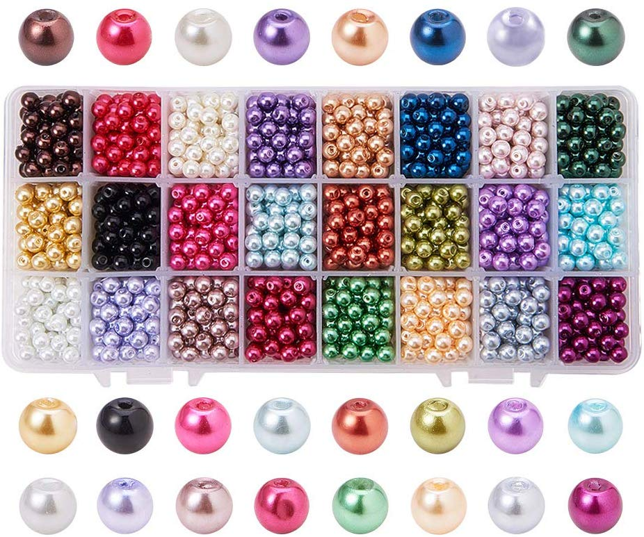 1-Box-About-1440-pcs-24-Color-6mm-Environmental-Dyed-Round-Glass-Pearl