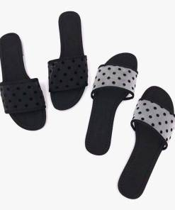 Fashion Polka Dot Mesh Women Casual Slippers Women's Fashion View All Footwear