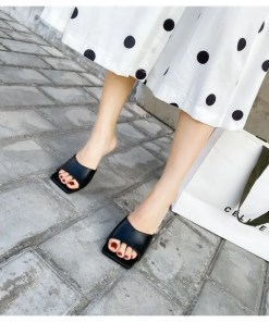 Women Square Toe Thin High Heel Slippers Women's Fashion View All Footwear