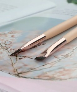 Black/Pink Professional Thin Makeup Brushes Makeup Lookta Beauty View All