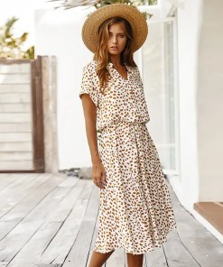 Polka Dot Print Summer Dress Women's Fashion View All Women's Clothing Dresses