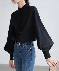 Lantern Sleeves Blouse Women's Fashion View All Women's Clothing Blouse