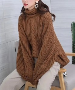 Women Oversized Casual Warm Sweater Women's Fashion View All Women's Clothing Sweater