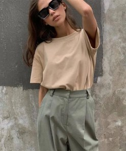 Women Oversized Casual Cotton T Shirt Women's Fashion View All Women's Clothing T-Shirt