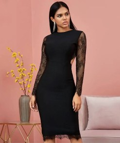 Women Bandage Long Sleeves Evening Party Dress Women's Fashion View All Women's Clothing Dresses