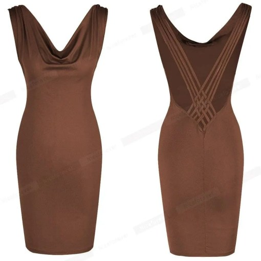 Backless Slim Fitted Women Body-Con Dress Women's Fashion View All Women's Clothing Dresses