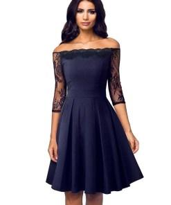 Off Shoulder Floral Lace A-Line Women Dress Women's Fashion View All Women's Clothing Dresses