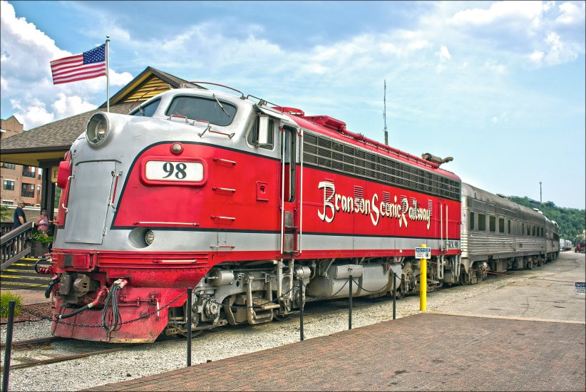 The Branson Scenic Railway is an attraction located near the Historic Downtown District lying east of the city.