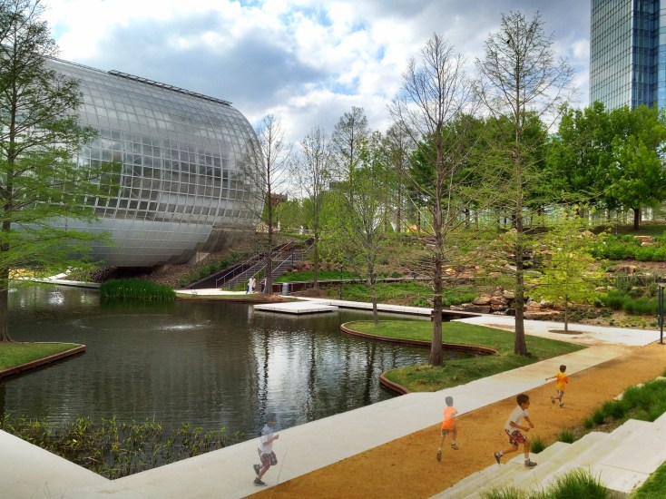 One of the best things to do in Oklahoma city is to visit Myriad Botanical Garden.