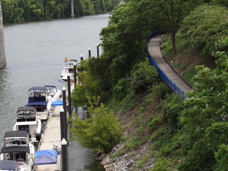 Take a walk in Tennessee Riverpark. Chattanooga Riverwalk