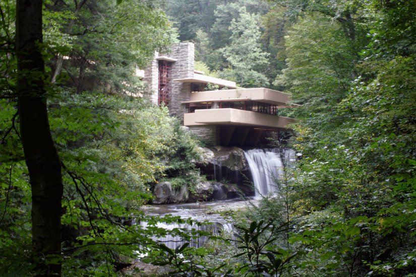 Fallingwater is one of the most scenic places in Pennsylvania.