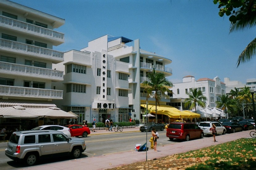 Ocean Drive is a really scenic area and a well known location for tourists in South Beach Florida.