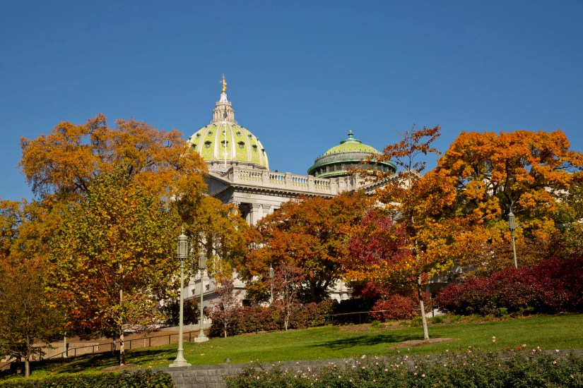 Pennsylvania State Capitol is a sight to behold and is one of the famous tourist spots of the city.