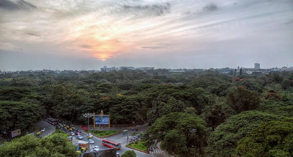 Sunset over Cubbon Park