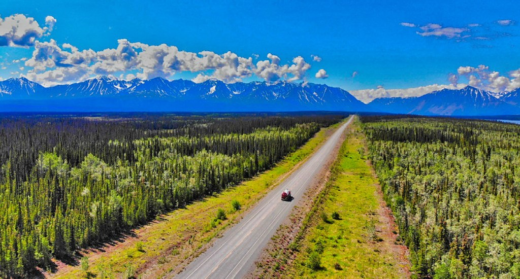 When in Alaska, make sure that you embark on a road trip on the Alaska Highway