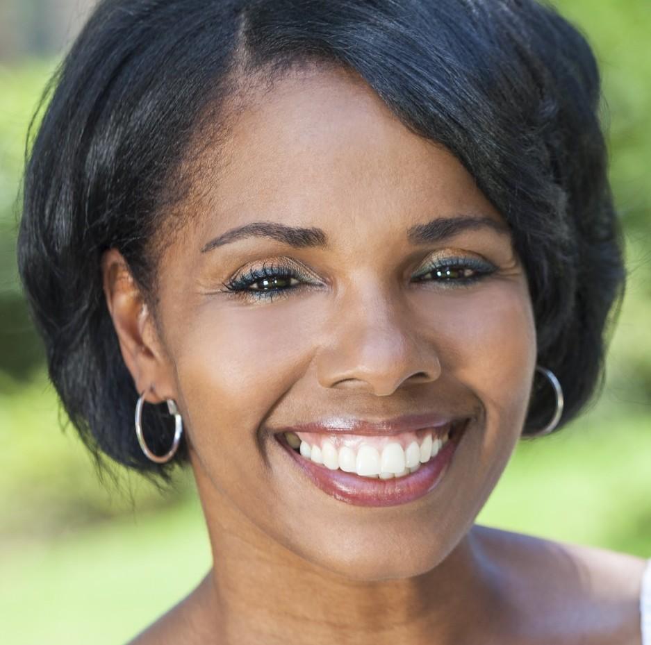 Beautiful African American Woman Outdoor Portrait