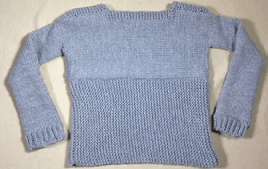 Loom knitted pullover sweater 1