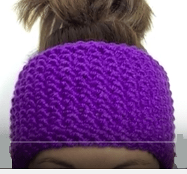 How To Easily Loom knit A Seed Stitch Headband