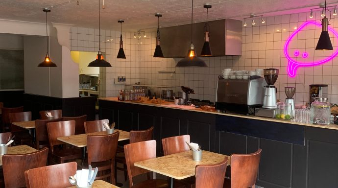 The Clam in Camber cafe