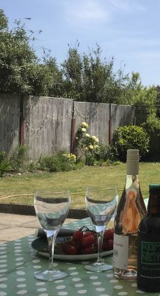 Enjoy a peaceful drink in the sunny garden
