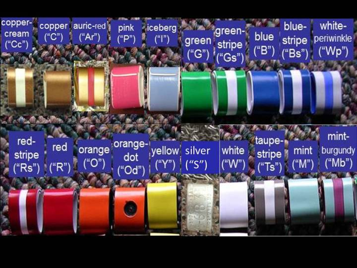 color bands, including silver