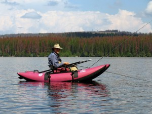 Rob Way checking out a 'sweet spot' at Hatheume Lake :: The LOONS Flyfishing Club