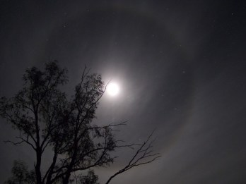 on the track, look at this amazing moon ring! it was magical!