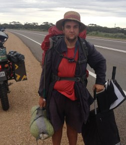 Man on a mission..Walking from Melb - Darwin, Nicholas...Made my journey all that easy!