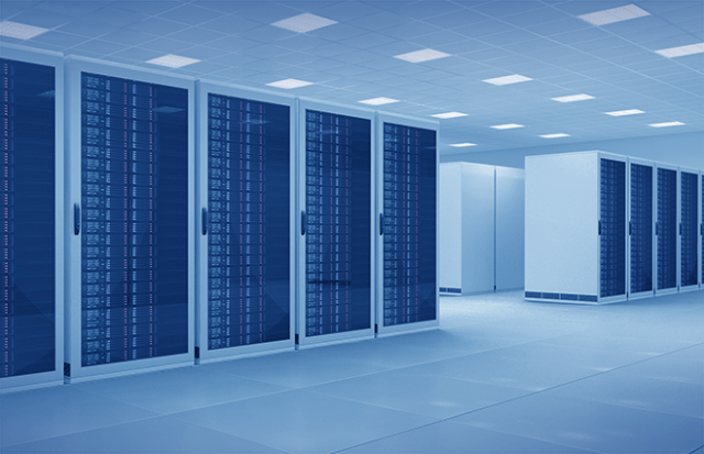 Image of a data center full of server racks