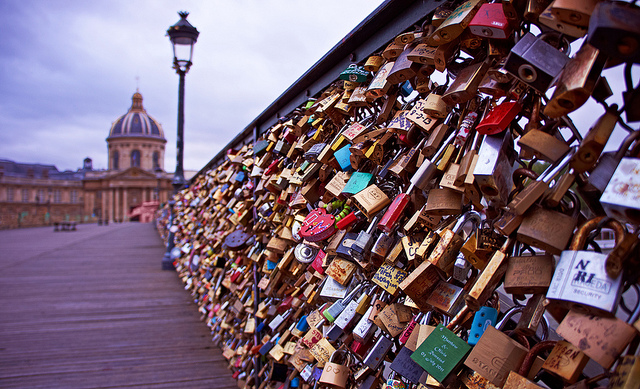 Image result for love bridge in paris