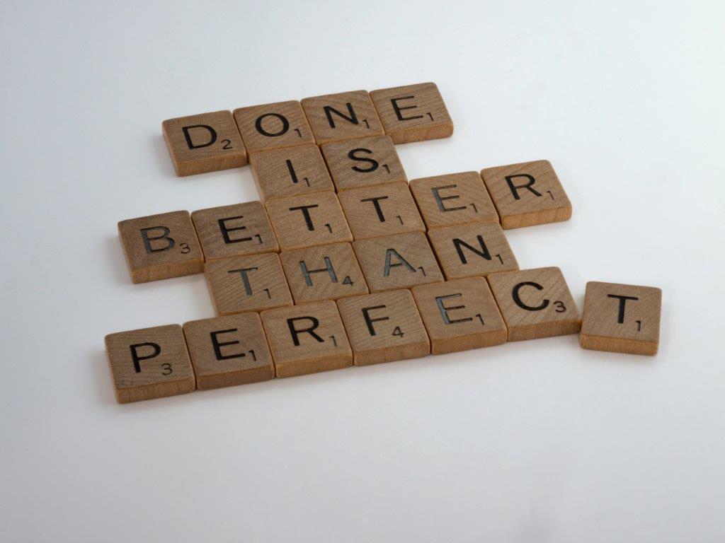 Perfectionisme, daar hebben veel van onze klanten last van.