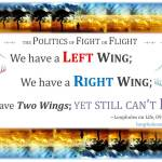 we have a left wing and right wing; two wings but still can't fly