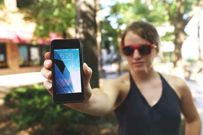 woman iphone girl mockup