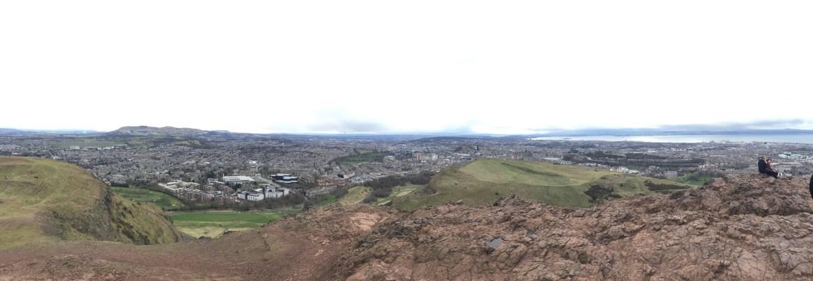 Panorama Above Edinburgh